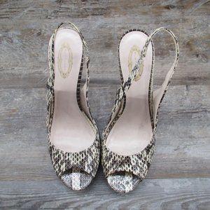 Elie Tahari Shoes - Elie Tahari Stiletto Heel Snake Print Sling Back